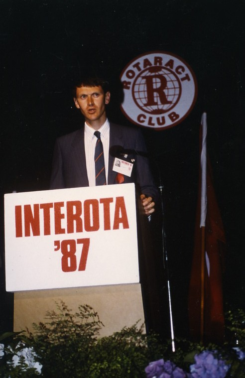 Speaking at Interota in 1987